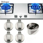 4pcs 6mm Zinc Alloy Gas Stove Switch Cooker Control Knobs Rotary Kitchen Parts