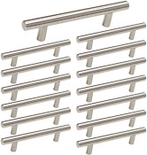 3 5 Inch Drawer Pulls Brushed Nickel Cabinet Handles 3 1 2in 90mm Center 15 Pack