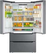 Counter Depth Fridge French Door Refrigerator Freezer Stainless Steel 22 5 Cu Ft