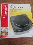 Portable Single Burner Hot Plate Electric Cooktop Stove Cooker Sunbeam