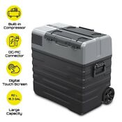 Electric Cooler Portable Refrigerator Freezer Compact Fridge 62 Liter W Battery