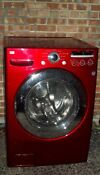 Lg Washing Machine Front Load Energy Star Cherry Red And Pedestal Base Washer
