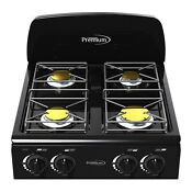 Premium 4 Burners Portable Gas Stove Black Stove Frame Manual Ignition