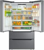 Counter Depth Refrigerator French Door Freezer Side By Side Cooler 23 Cu Ft New