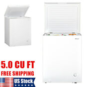 Smad 5 Cu Ft Deep Chest Freezer Chiller Food Storage White Home Energy Saving Us