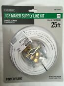 Ice Maker Supply Line Kit Connects Icemaker To Water Supply 25 1 4 Od Poly