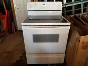 Used Electric Range Oven Stove Combo Freestanding Whirpool Super Capacity 465