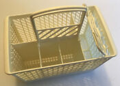 Dishwasher Silverware Utensil Basket W Handle 7 Compartments White 9 75 X 6 X6