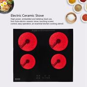 24 Inch Induction Hob 4 Stove Cooktop Glass Electric Cooktop Cooker