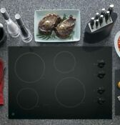 Ge 30 In Radiant Electric Cooktop With 4 Elements Including 2 Power Boil