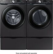 Samsung Wf45t6000av Washer Dvg45t6000v Gas Dryer Side By Side Black Stainless