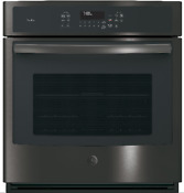 Ge Profile 27 Single Electric Wall Oven Black Stainless Steel Pk7000blts