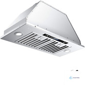 Iktch 30 Inch Built In Insert Range Hood With 900 Cfm Ducted Ductless Convertib