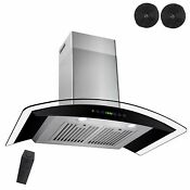New 30 Wall Mount Black Ductless Stainless Steel Range Hood Stove Vents Kitchen