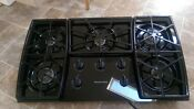 New Kitchenaid Gas Cooktop Black Glass 35