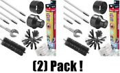2 Ea Gardus 10 Piece Rotary Dryer Vent Cleaning Lint Removal System Rle202