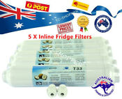 5 X Inline Coconut Fridge Water Filter Suit Lg Ge Bosch Samsung Westinghouse