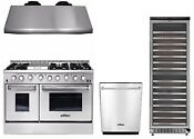 Gas Range 48 Thor Kitchen Hrg4808u Double Oven Professional Appliance Package