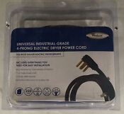 New Universal Dryer Power Cord 6 4 Wire 30 Amp Whirlpool P N 8171381rc
