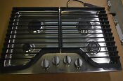 Whirlpool Wcg51us0ds 30 Stainless Gas Cooktop W 4 Burner 6171 T2