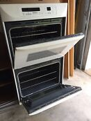 Kitchenaid Double Electric Oven White Barely Used Oven
