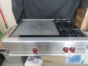 Wolf Pro Style Rt362f 36 Gas Rangetop With 24 Chef S French Top