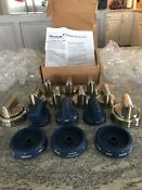 New 17 Piece Thermador Blue Silver Metal Knobs Pro Grand Ranges Paknoblung
