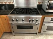 Thermador 36 Gas Professional Range 4 Burner Grill Stainless Steel With Hood