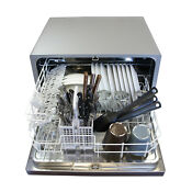 New Sunpentown Countertop Dishwasher Portable Compact Silver Sd 2201s