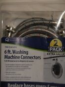Washing Machine Hoses 2pk Stainless Steel Braided 6ft