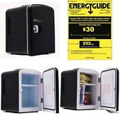 Black New Compact Mini Dorm Small Fridge Refrigerator Cooler Office Dorm Bedroom