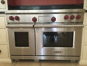 Wolf Range Df486flp 48 Pro Dual Fuel 4 Burners Shipping From 399 To 649