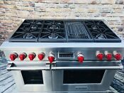 In Prestine Condition Ng Wolf Df486c 48 Pro Dual Fuel Range 6 Burners Grill