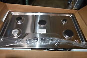 Kitchenaid Kcgs356ess 36 Stainless Built In Gas 5 Burner Cooktop Nob 23906