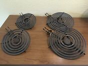 Vintage Ge General Electric Coil Burners Set Of 4 Marked Genuine Calrod Unit