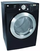 Lg Black Stainless Steel Drum 27 Electric Dryer Tromm With A Dryer Rack Dle5977b