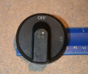 Thermador Gas Cooktop Control Switch Knob Right Rear