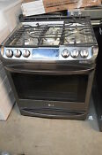 Lg Lsg4513bd 30 Black Stainless Steel Slide In Gas Range Nob 10847 Clw