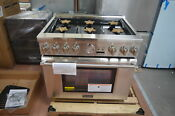 Thermador Prg366jg 36 Stainless Pro Style Gas Range Nob 27798 Hl