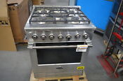 Dcs Rgv2305n 30 Stainless Natural Gas Convection Range Nob 28539 Hl