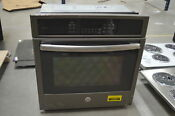 Ge Pk7000ejes 27 Slate Single Electric Wall Oven Nob 28625 Mad