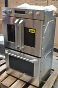 Ge Monogram Zet2flss 30 Stainless Electric French Door Double Wall Oven 28945