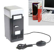 Usb Portable Mini Fridge Drink Cooler And Warmer Auto Car Boat Home Office Red