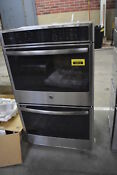 Ge Pt7550sfss 30 Stainless Double Electric Wall Oven Nob 30910 Hrt