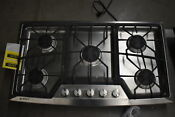 Ge Zgu385nsmss 36 Stainless 5 Burner Gas Cooktop Nob 34317 Clw