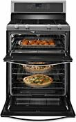 Nib Whirlpool Wgg555s0bs Double Oven Gas Range Stainless Steel Fast Shipping