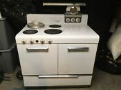 1951 White Gm Frigidaire Electric Stove Pristine Condition
