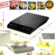 Electric Induction Cooker Cooktop Burner 1800w Temperature Control Portable