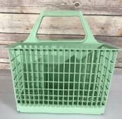 Vintage Dishwasher Green Silverware Basket Replacement Square 6 Compartments