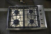 Ge Monogram Zgu384nsmss 30 Stainless 4 Burner Gas Cooktop Nob 42076 Cln